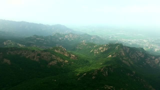view of wolchulsan mountain national park in yeongamgun, jeollanam-do, south korea - jeollanam do stock videos & royalty-free footage