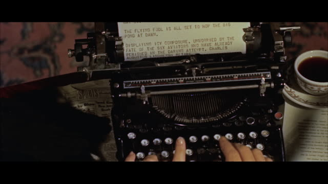 ms view of  woman's hands typing at old typewriter / new york, new york, united states - sekretärin stock-videos und b-roll-filmmaterial