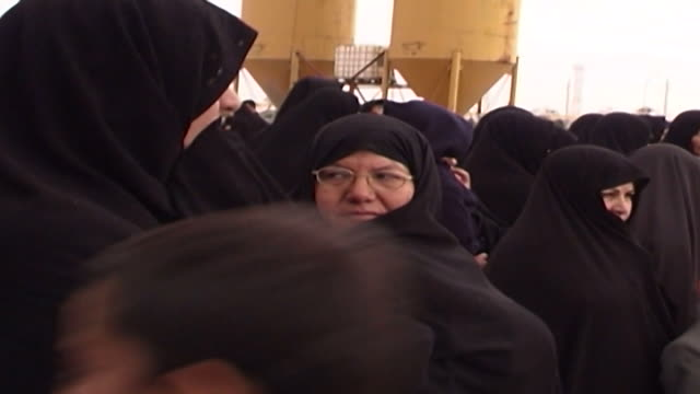 mcu view of women watching azadari rituals during ashura at a mosque in isfahan province ashura the tenth day of the islamic month of muharram... - ashura muharram stock videos & royalty-free footage