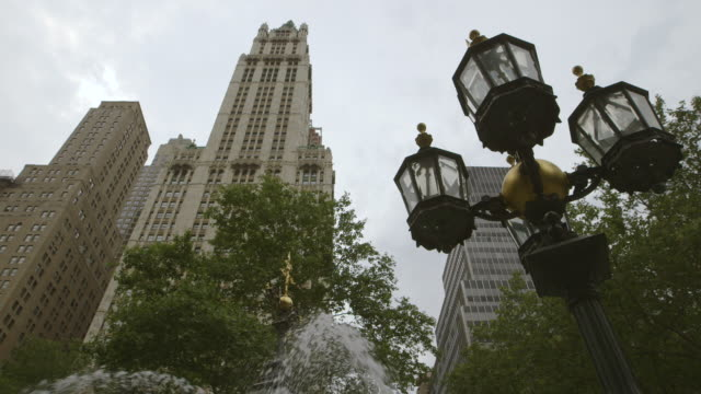 ws view of woolworth building / manhattan, new york city, new york state, united states - woolworth building stock videos & royalty-free footage