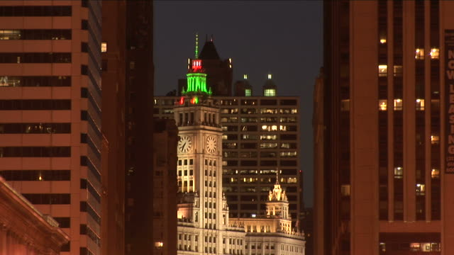 View of Wrigley building from downtown Chicago United States
