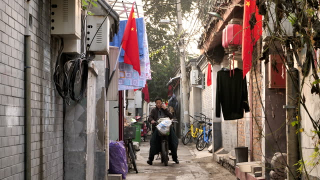 A view of Wudaoying Hutong on Oct 20 2017 in Beijing China Hutong is a type of narrow streets or alleys commonly associated with northern Chinese...