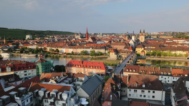 view of wurzburg, bavaria, germany - wurzburg stock videos and b-roll footage
