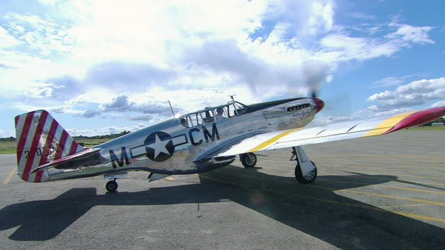 MS View of WW2 P-51 Mustang Aircraft / Western Australia, Australia