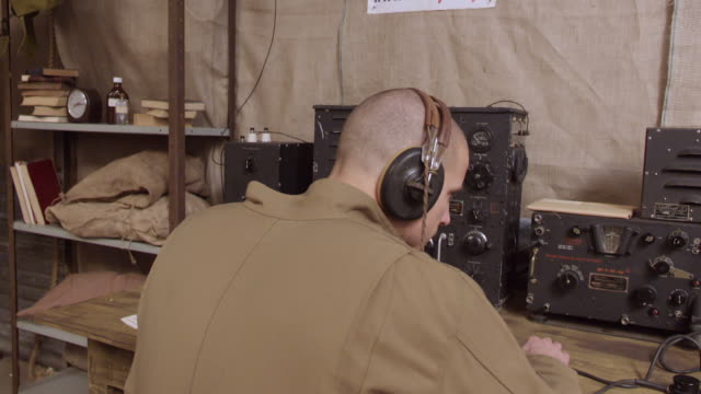 MS View of WW2 Radio Operator 1 / Horsham, West Sussex, United Kingdom