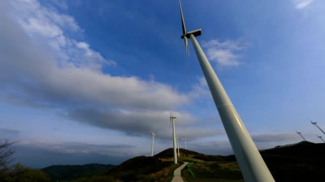 view of yeongdeok wind farm (popular location in korea) - einige gegenstände mittelgroße ansammlung stock-videos und b-roll-filmmaterial