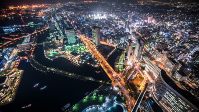 T/L WS HA View of Yokohama at Night / Yokohama, Japan