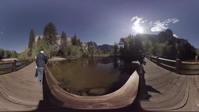 vr view of yosemite national park - panoramic stock videos & royalty-free footage