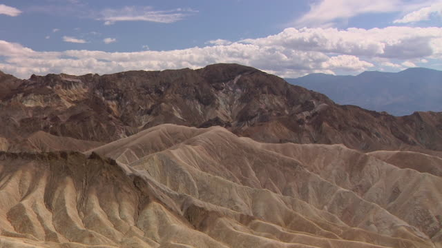 ws view of zabriskie point / death valley national park, california, usa - zabriskie point stock videos & royalty-free footage