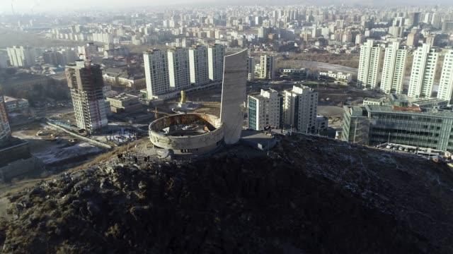 view of zaisan memorial in ulan bator, mongolia - ulan bator stock videos & royalty-free footage