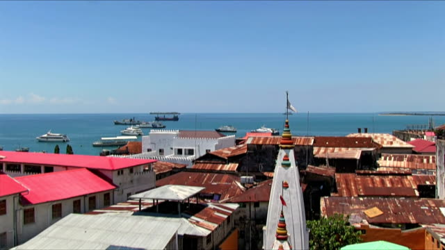 view of zanzibar town - africa - zanzibar archipelago stock videos & royalty-free footage