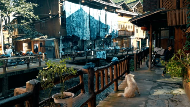 view of zhaoxing dong village, guizhou, china - town stock videos & royalty-free footage