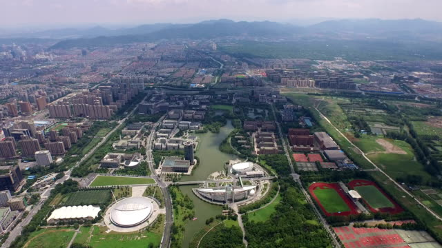 aerial view of zhejiang university,hangzhou, china - zhejiang province stock videos & royalty-free footage