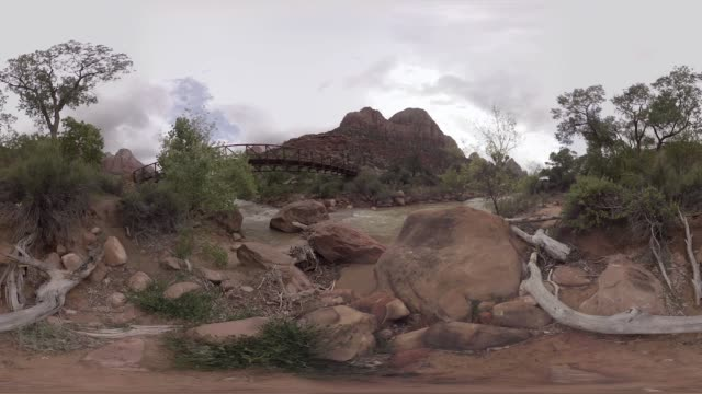vr view of zion national park - zion national park stock videos & royalty-free footage
