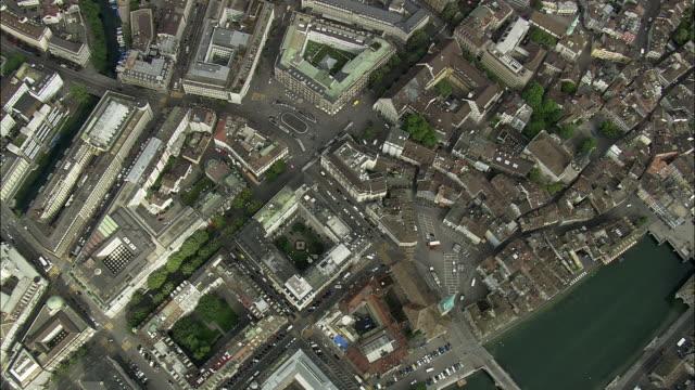 AERIAL View of Zurich, Switzerland