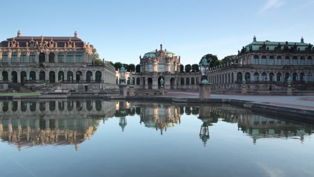 ws view of zwinger palace / dresden, saxony, germany - saxony stock videos & royalty-free footage