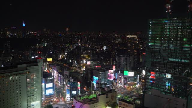 vídeos y material grabado en eventos de stock de ver en shibuya increíble por la noche, tokio japón - lugar de comercio