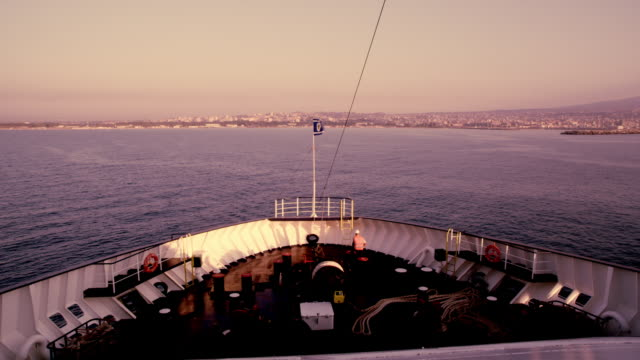 view on bow heading the mainland - ship's bow stock videos & royalty-free footage