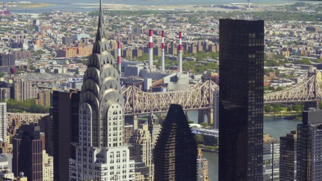 view on chrysler building - chrysler building stock videos & royalty-free footage