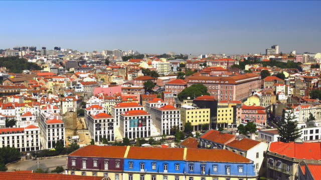 View on lisbon city center from rooftop