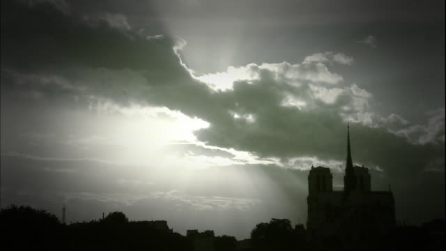view on paris - back lit stock videos & royalty-free footage