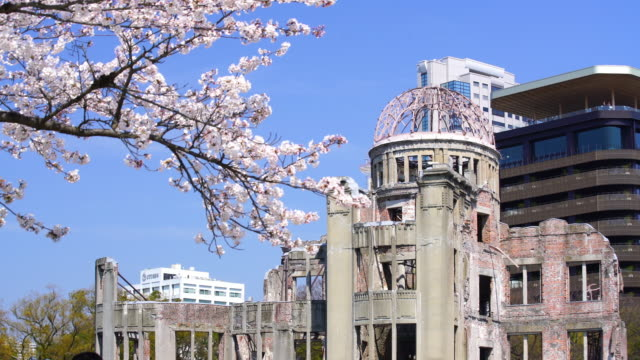 View on the atomic bomb dome in Hiroshima Japan