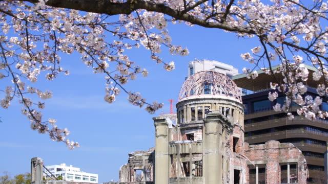 vidéos et rushes de découvre sur le dôme de la bombe atomique à hiroshima au japon - hiroshima prefecture