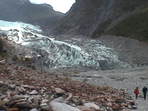 View on the Franz Josef Glacier