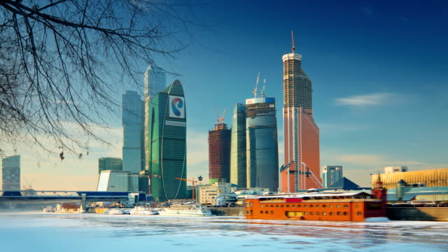 "TL View on the ""Moscow-City"". Winter. Sunny day / Russia, Moscow"