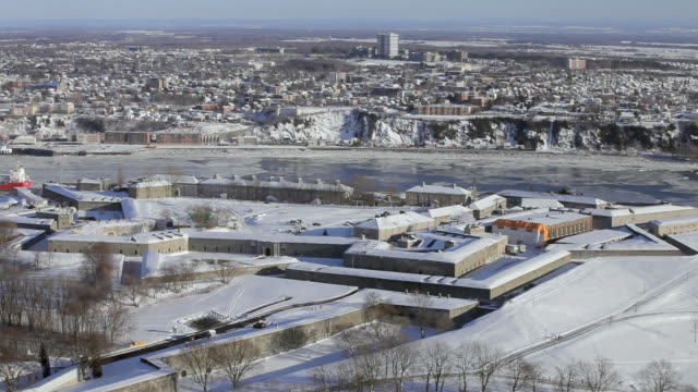View on the Quebec Citadel, armory still active, near the St-Lawrence river.