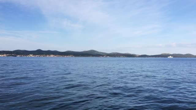 View on Ugljan island from Zadar