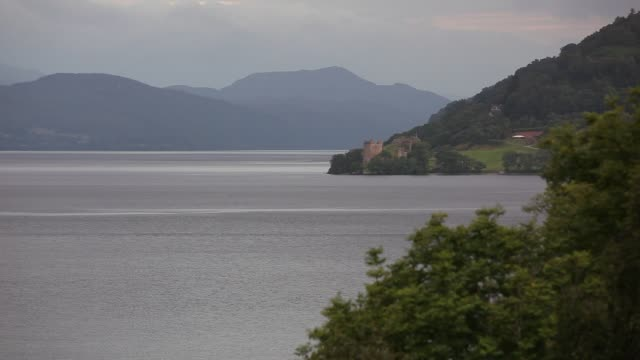 View on Urquhart Castle at Loch Ness in the Scottish Highlands