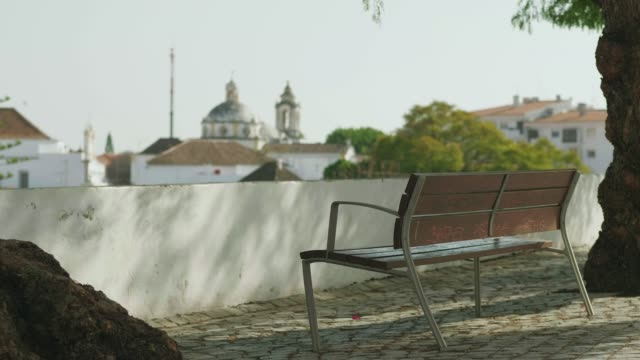 view out over tavira city in portugal - algarve stock videos & royalty-free footage