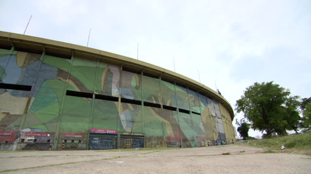 "view outside of estadio centenario stadium / montevideo, uruguay"" - montevideo stock videos & royalty-free footage"