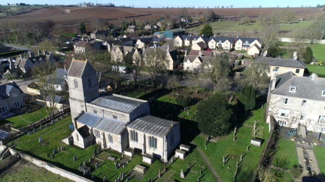 View over All Saints church and Tinwell village