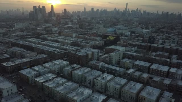 view over astoria, queens - queens new york city stock videos & royalty-free footage