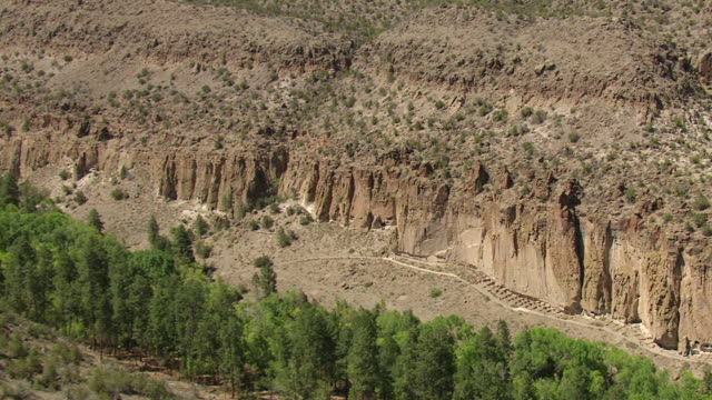 WS AERIAL TD View over Bandelier National Monument / New Mexico, United States
