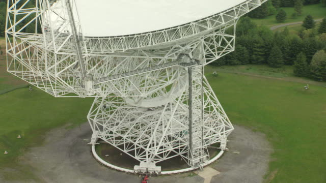 MS ZO AERIAL View over base of Robert C Byrd Green Bank Telescope in Pocahontas County / West Virginia, United States