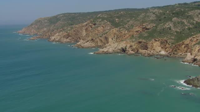 ws aerial view over cascais coast / lisbon, portugal - cascais stock videos and b-roll footage