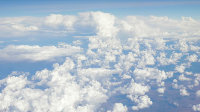 View Over Clouds from an Airplane