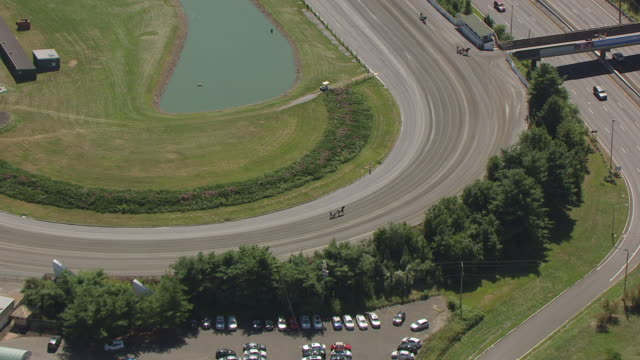 WS AERIAL ZI View over Freehold Raceway to harness racer / Freehold Borough, New Jersey, United States