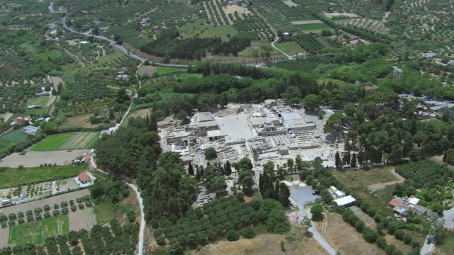 WS AERIAL DS View over Knossos / Heraklion, Crete, Greece