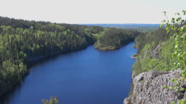 stockvideo's en b-roll-footage met mening over meer la haie in nationaal park aiguebelle, quebec, canada - sunny