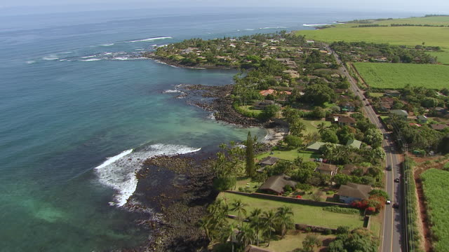 WS AERIAL View over Maui coastline / Hawaii, United States