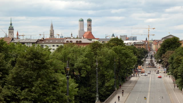 View over Maximilianstraße in Munich