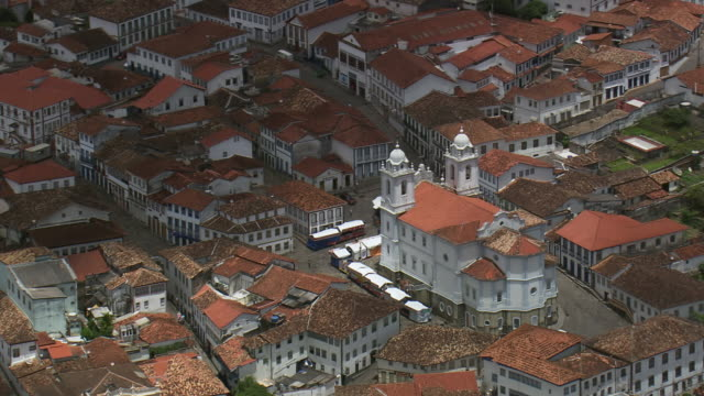 ws aerial view over metropolitan cathedral / minas gerais, brazil - minas stock videos and b-roll footage