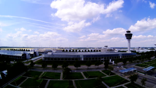 view over munich airport - midsection stock videos and b-roll footage