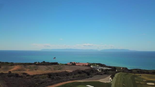 view over palos verdes towards the pacific ocean - huelva province stock videos & royalty-free footage