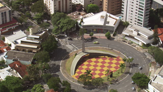 ms aerial ds view over pope's square / minas gerais, brazil - belo horizonte stock videos and b-roll footage