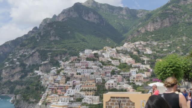 View over Positano, Costiera Amalfitana (Amalfi Coast), UNESCO World Heritage Site, Province of Salerno, Campania, Italy, Europe